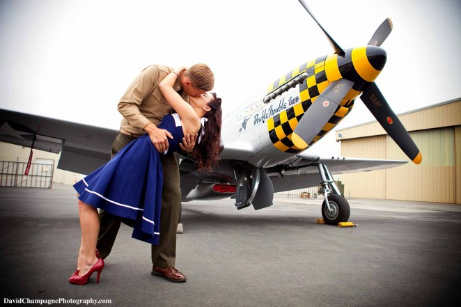 David Champagne Photography Vintage Military Engagement Session