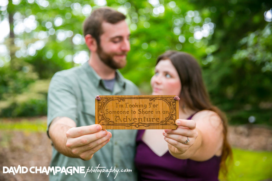 norfolk botanical garden engagement photos, lord of the rings engagement photos