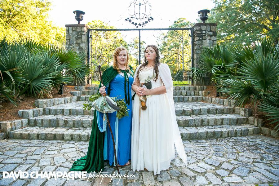 Norfolk Botanical Garden wedding photos, Lord of the Ring themed wedding photos