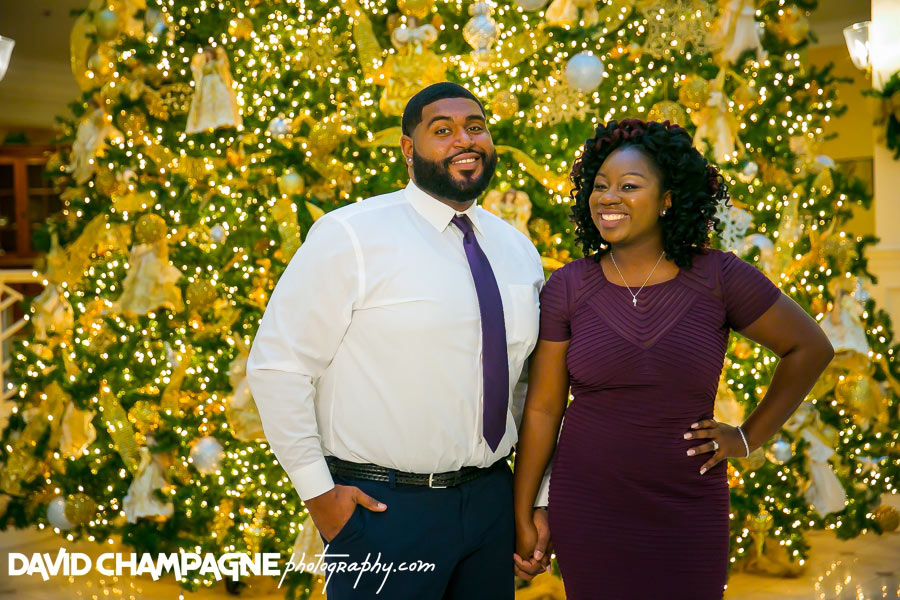 Founders Inn engagement photos, virginia beach engagement photographers, christmas