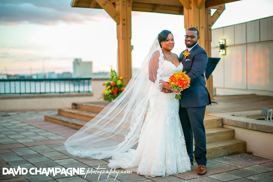 Norfolk Waterside Marriott wedding photos, Virginia Beach wedding photographers