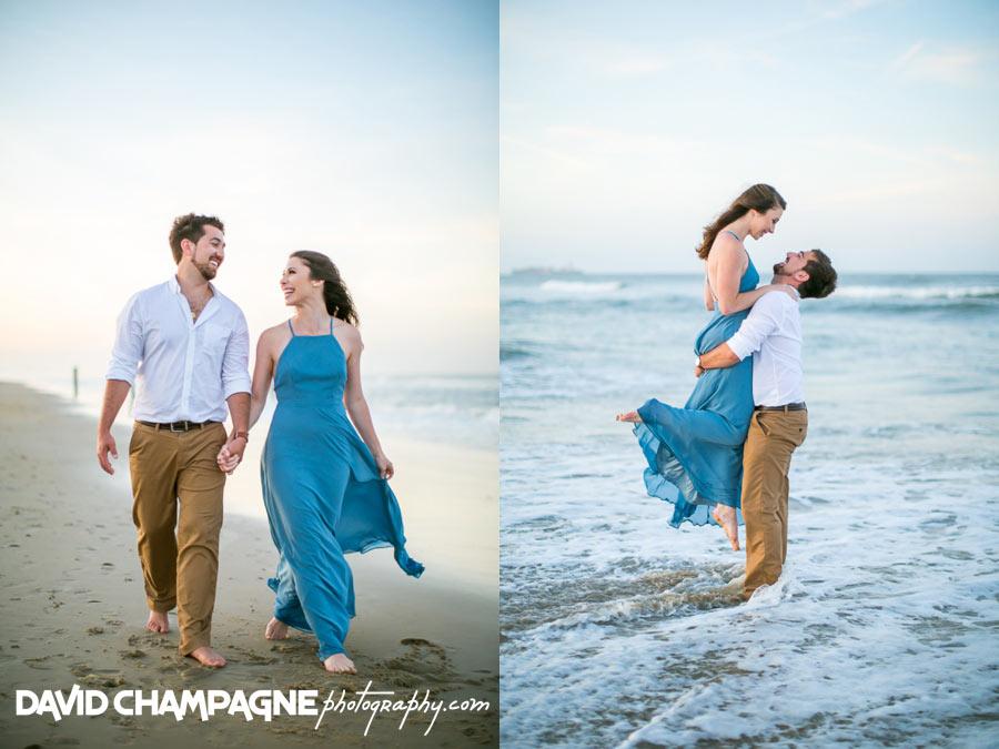 Virginia Beach engagement photographers, Virginia Beach oceanfront photos