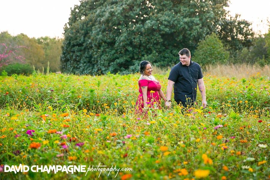 Norfolk Botanical Garden engagement photos