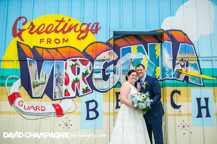 Virginia Beach Vibe District murals wedding